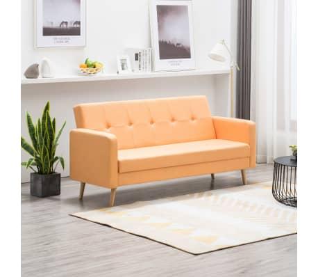 vidaXL Pohovka s textilním čalouněním oranžová[1/10]