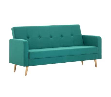 vidaXL Sofa, audinys, žalia