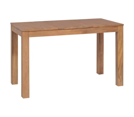vidaXL Dining Table Solid Teak Wood with Natural Finish 120x60x76 cm