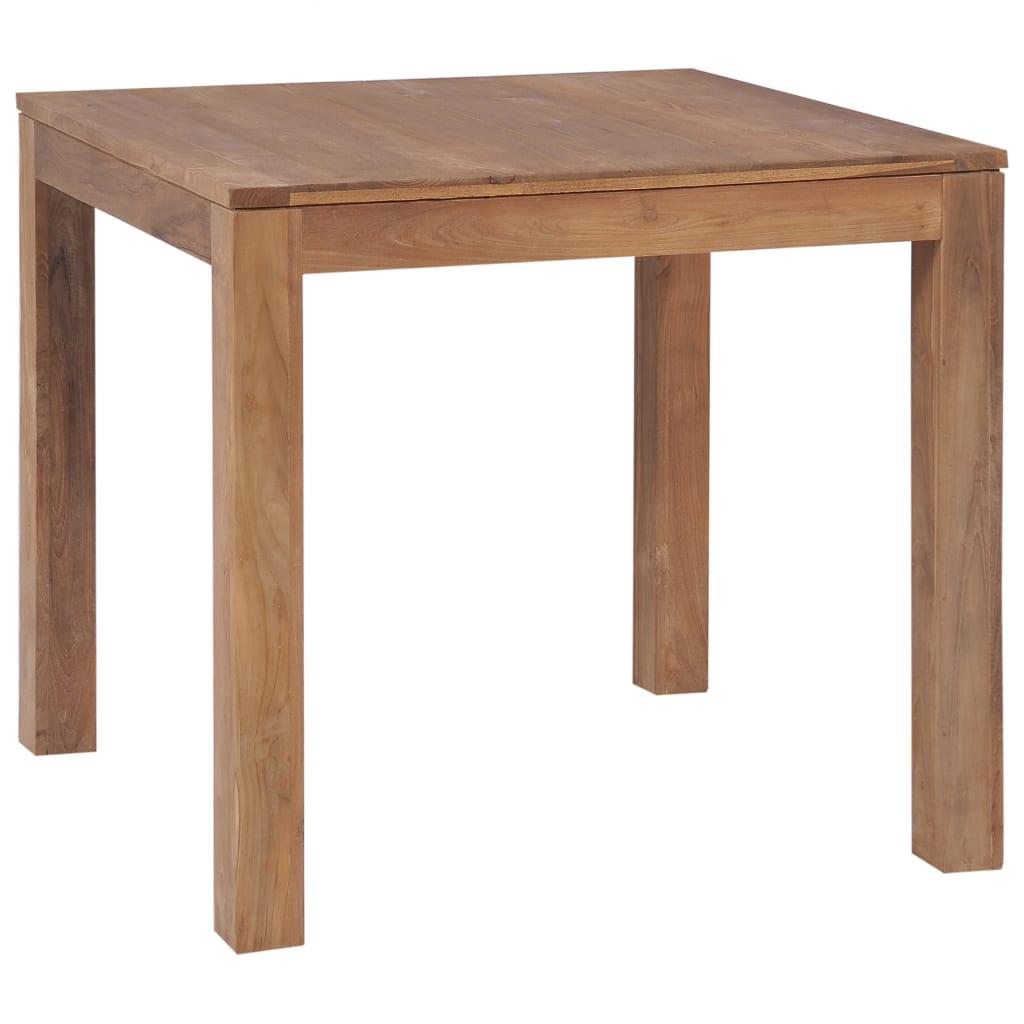 vidaXL Masă, lemn masiv de tec cu finisaj natural, 82 x 80 x 76 cm imagine vidaxl.ro