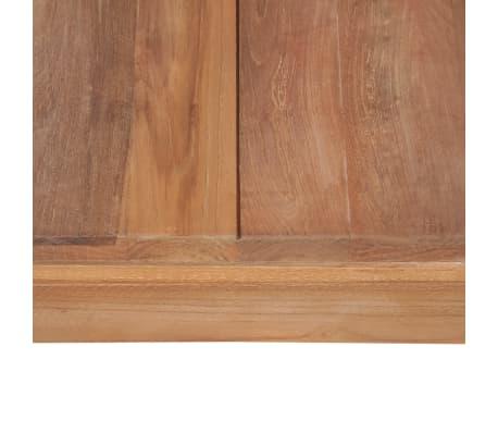 vidaXL Konsolinis stal., 110x35x76cm, tik. med. mas. su natūr. sp. ap.[7/8]