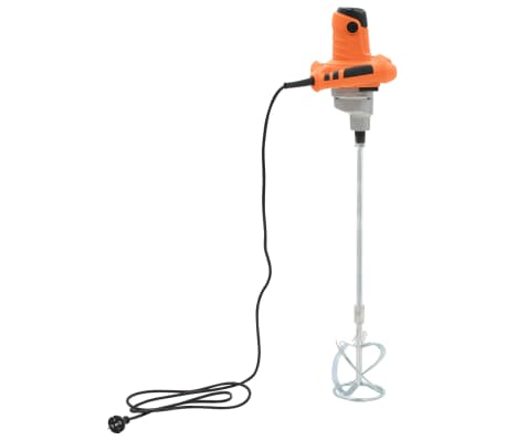vidaXL Betonmixer elektrisch handmodel 6 snelheden 1200 W[3/10]