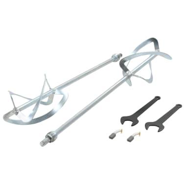 vidaXL Elektro Hand Betonmischer 6 Geschwindigkeit Doppelpaddel 1600W[10/11]