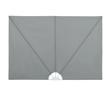 vidaXL Tenda Laterale per Terrazza Pieghevole Grigio 300x150 cm
