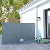 vidaXL Auvent latéral pliable de terrasse Gris 300 x 150 cm