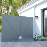 vidaXL Collapsible Terrace Side Awning Grey 300x200 cm