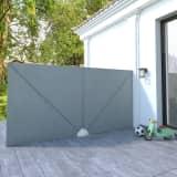 vidaXL Sidomarkis för terrass grå 400x200 cm
