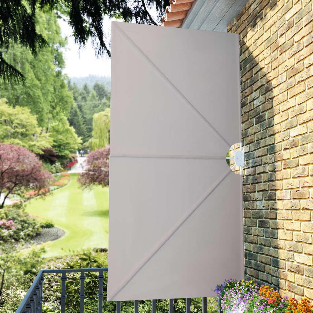 Terrasscherm inklapbaar 300x150 cm crème