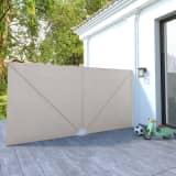 vidaXL sammenklappelig sidemarkise til terrasse cremefarvet 400 x 200 cm