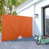 vidaXL sammenklappelig sidemarkise til terrasse terracotta 240 x 160 cm