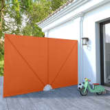 vidaXL Faltbarer Terrassen-Seitenfächer Terracotta-Rot 300×200 cm