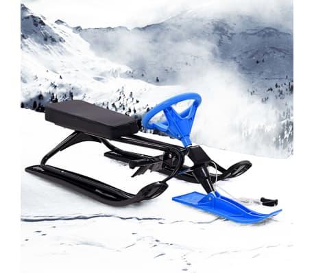 vidaXL Snow Racer Schlitten Bob Schwarz und Blau[1/11]