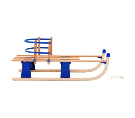 vidaXL Sulankstomos rogutės su atlošu, medinės, 110cm[4/10]