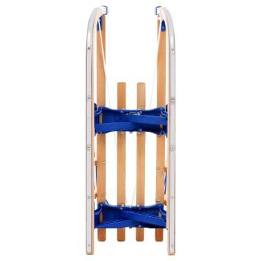 vidaXL Sulankstomos rogutės su atlošu, medinės, 110cm[10/10]