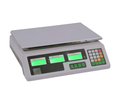 vidaXL Weegschaal digitaal met oplaadbare batterij 30 kg