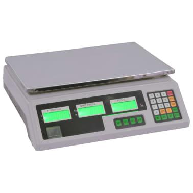 vidaXL Waga cyfrowa do 30 kg z akumulatorem[1/12]