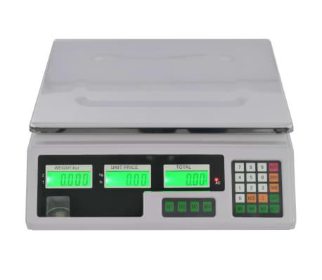 vidaXL Bilancia Digitale 30 kg con Batteria Ricaricabile[3/12]