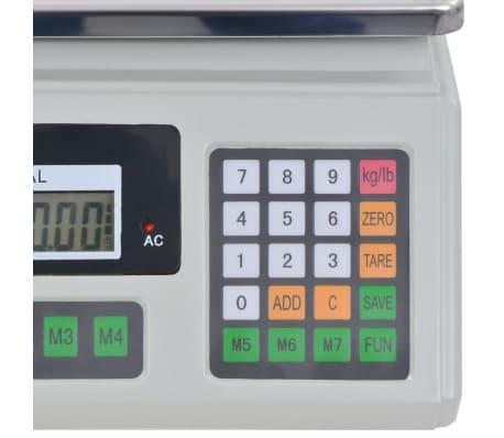 vidaXL Bilancia Digitale 30 kg con Batteria Ricaricabile[6/12]