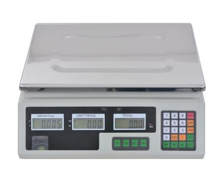 vidaXL Bilancia Digitale 30 kg con Batteria Ricaricabile[8/12]