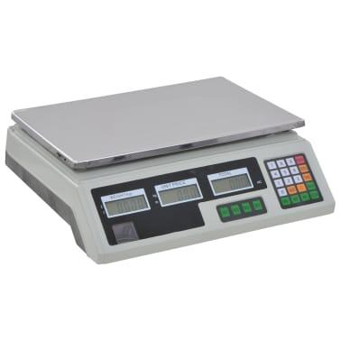 vidaXL Bilancia Digitale 30 kg con Batteria Ricaricabile[4/12]