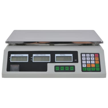 vidaXL Bilancia Digitale 30 kg con Batteria Ricaricabile[5/12]