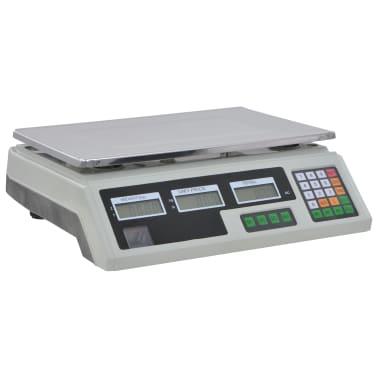 vidaXL Bilancia Digitale 30 kg con Batteria Ricaricabile[9/12]