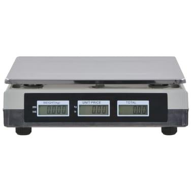 vidaXL Bilancia Digitale 30 kg con Batteria Ricaricabile[10/12]