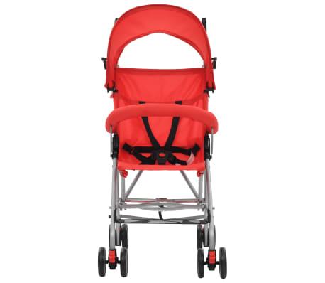 vidaXL Sulankstomas vaikiškas vežimėlis, raudonas, plienas[3/10]