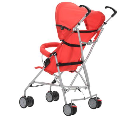 vidaXL Sulankstomas vaikiškas vežimėlis, raudonas, plienas[5/10]