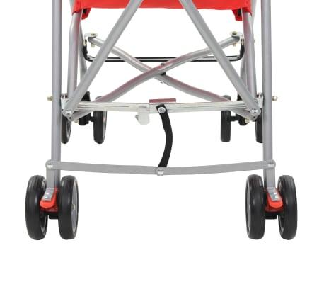 vidaXL Sulankstomas vaikiškas vežimėlis, raudonas, plienas[9/10]