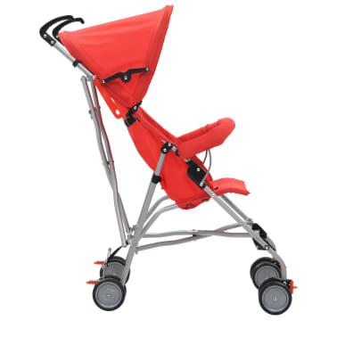 vidaXL Sulankstomas vaikiškas vežimėlis, raudonas, plienas[4/10]