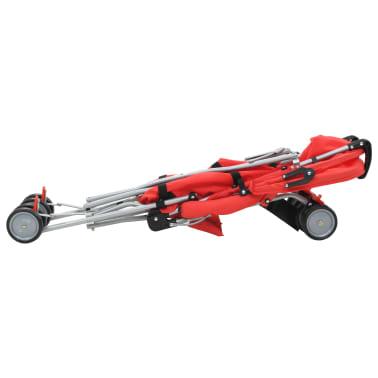 vidaXL Sulankstomas vaikiškas vežimėlis, raudonas, plienas[6/10]