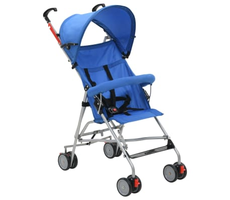 vidaXL Buggy inklapbaar staal blauw