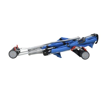 vidaXL Poussette pliante en acier bleu[6/10]