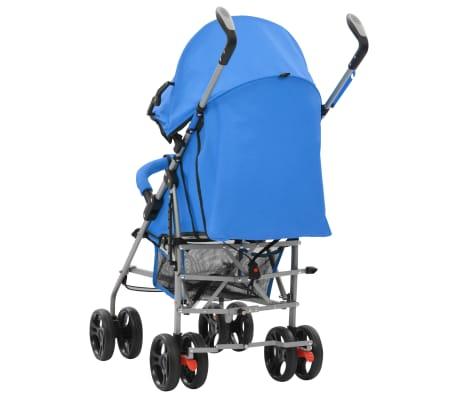 vidaXL Sulankstomas vaikiškas vežimėlis, mėlynas, plienas, 2-1[4/11]