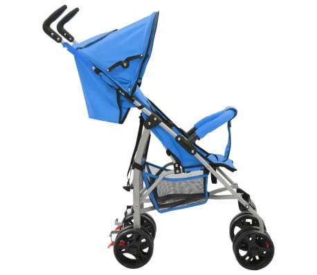 vidaXL Sulankstomas vaikiškas vežimėlis, mėlynas, plienas, 2-1[5/11]