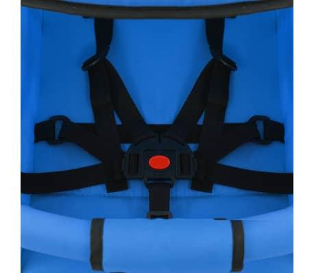 vidaXL Sulankstomas vaikiškas vežimėlis, mėlynas, plienas, 2-1[9/11]