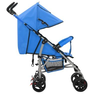 vidaXL Sulankstomas vaikiškas vežimėlis, mėlynas, plienas, 2-1[3/11]