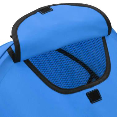 vidaXL Sulankstomas vaikiškas vežimėlis, mėlynas, plienas, 2-1[10/11]