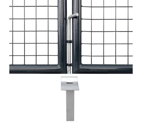 vidaXL Portail en maille de jardin Acier galvanisé 289 x 125 cm Gris[6/9]