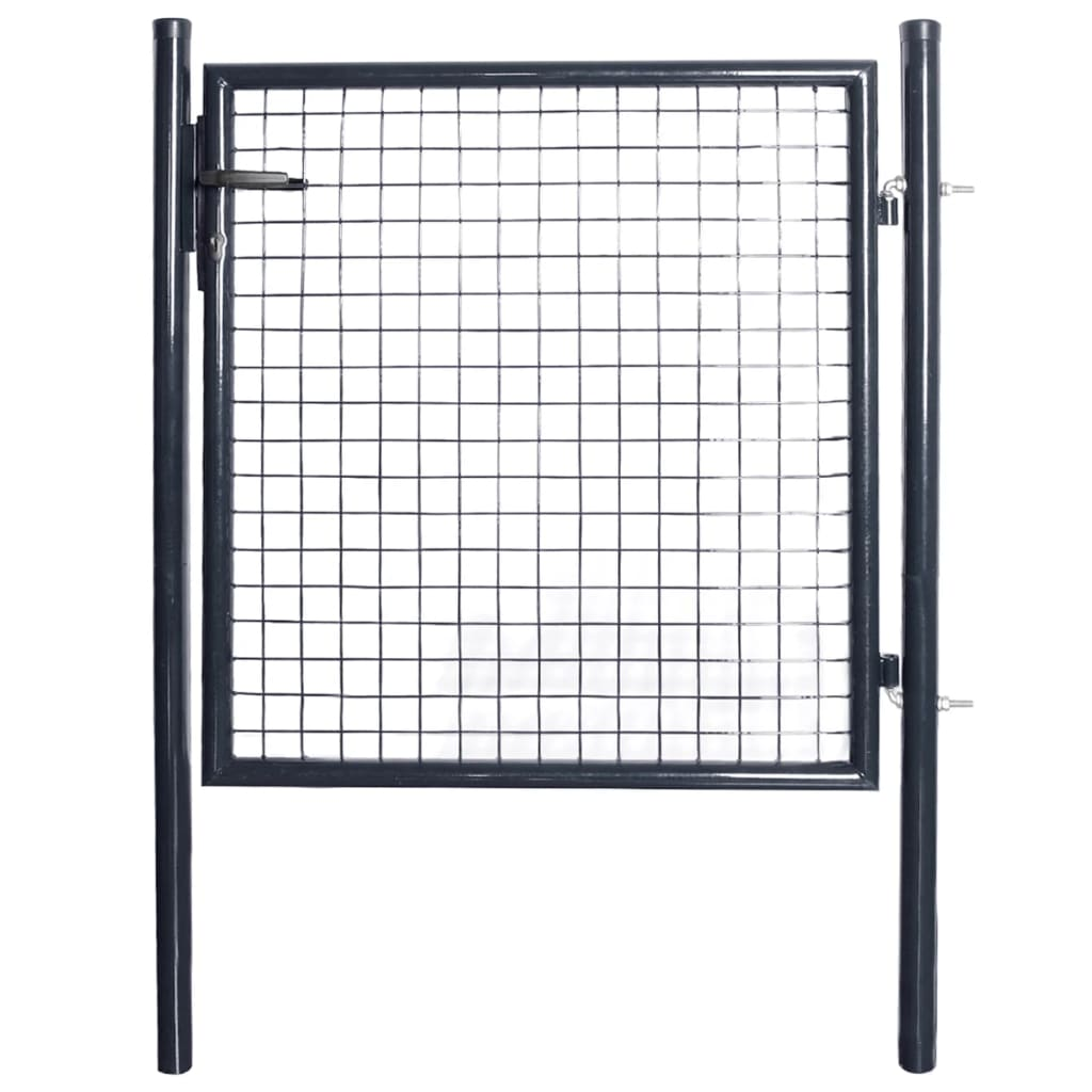 Zahradní plotová branka pozinkovaná ocel 85,5 x 100 cm šedá