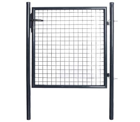 vidaXL Nätgrind för trädgård galvaniserat stål 85,5x100 cm grå
