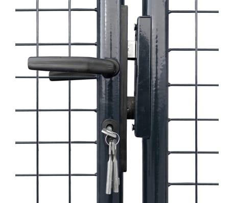 vidaXL Mesh-Gartentor Verzinkter Stahl 400 x 100 cm Grau[3/6]