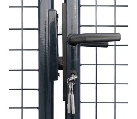 vidaXL Portail en maille de jardin Acier galvanisé 400 x 150 cm Gris[3/6]