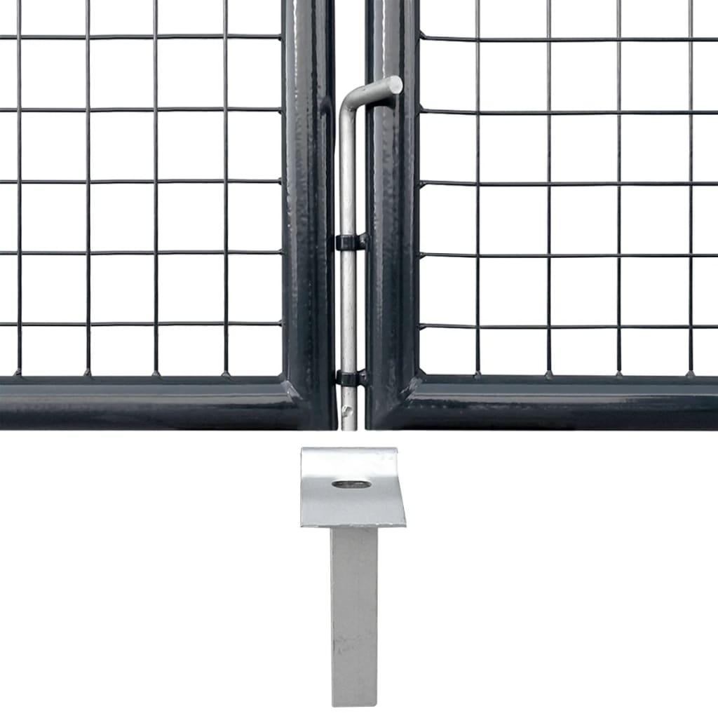 vidaXL Gaaspoort 400x175 cm gegalvaniseerd staal grijs