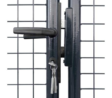 vidaXL Portail en maille de jardin Acier galvanisé 400 x 175 cm Gris[3/6]