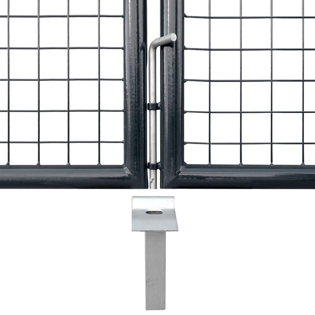 vidaXL Gaaspoort 400x200 cm gegalvaniseerd staal grijs