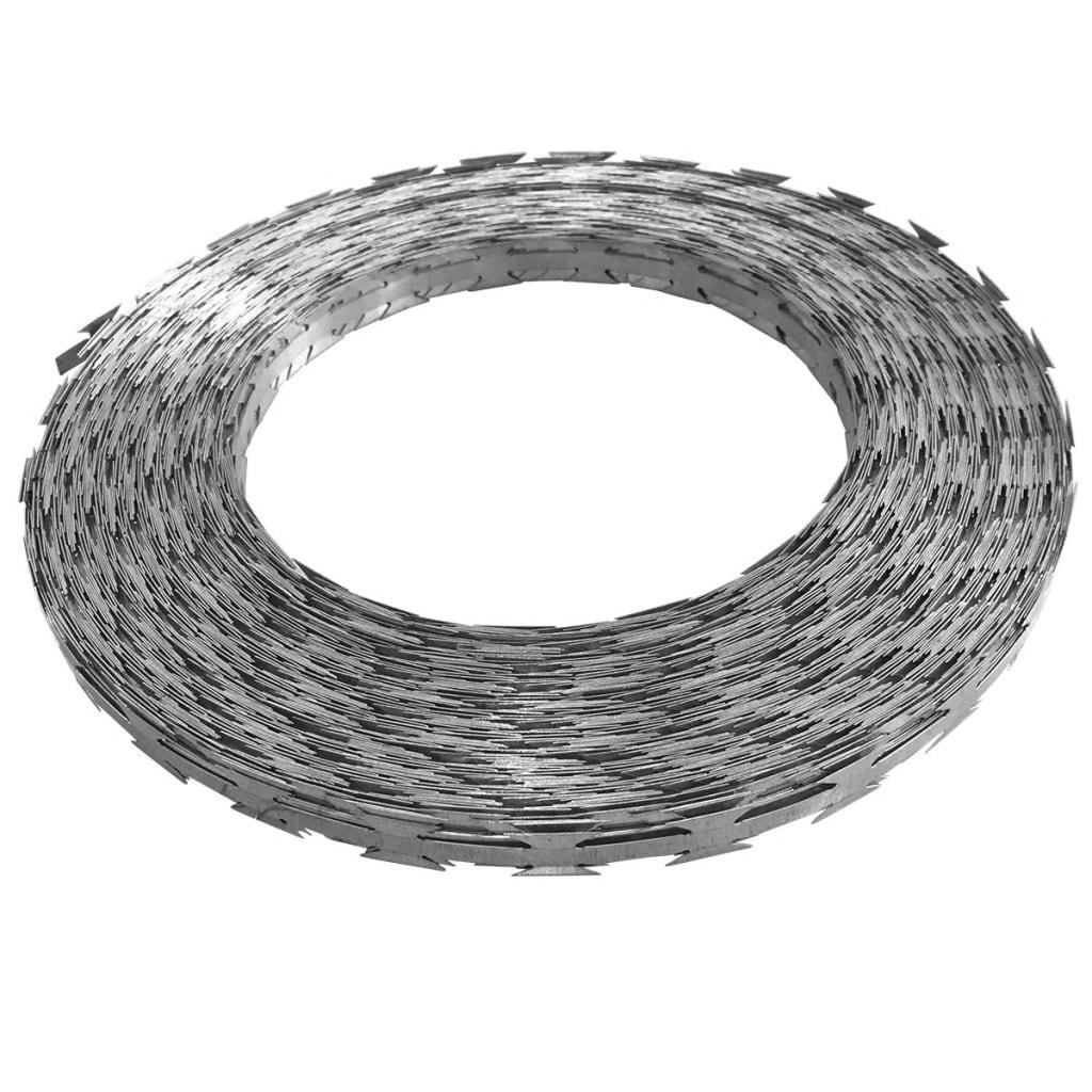 Afbeelding van vidaXL Scheermesprikkeldraad concertina 500 m gegalvaniseerd staal
