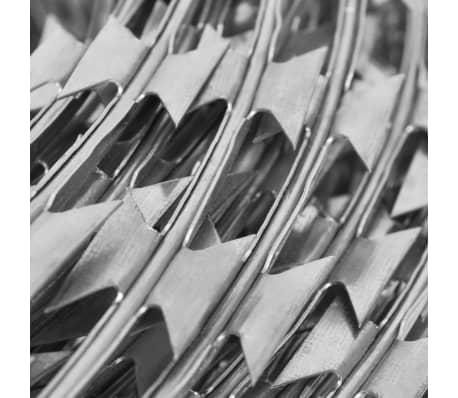 vidaXL Prikkeldraad concertina NATO 300 m gegalvaniseerd staal[4/4]