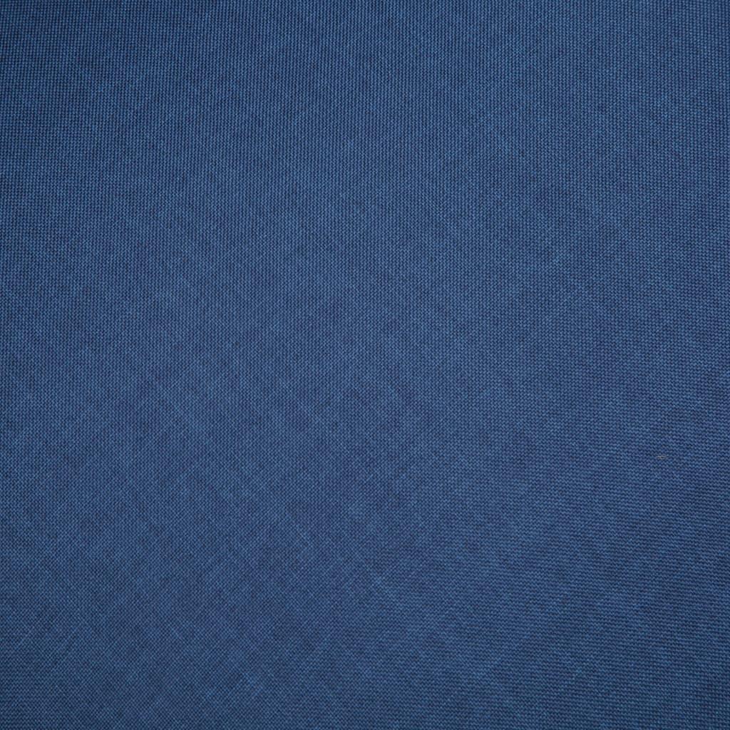 vidaXL Bankstel voor 6 personen stof blauw 3-delig